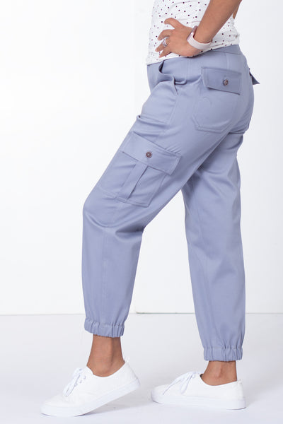 Steel Blue Chino Joggers