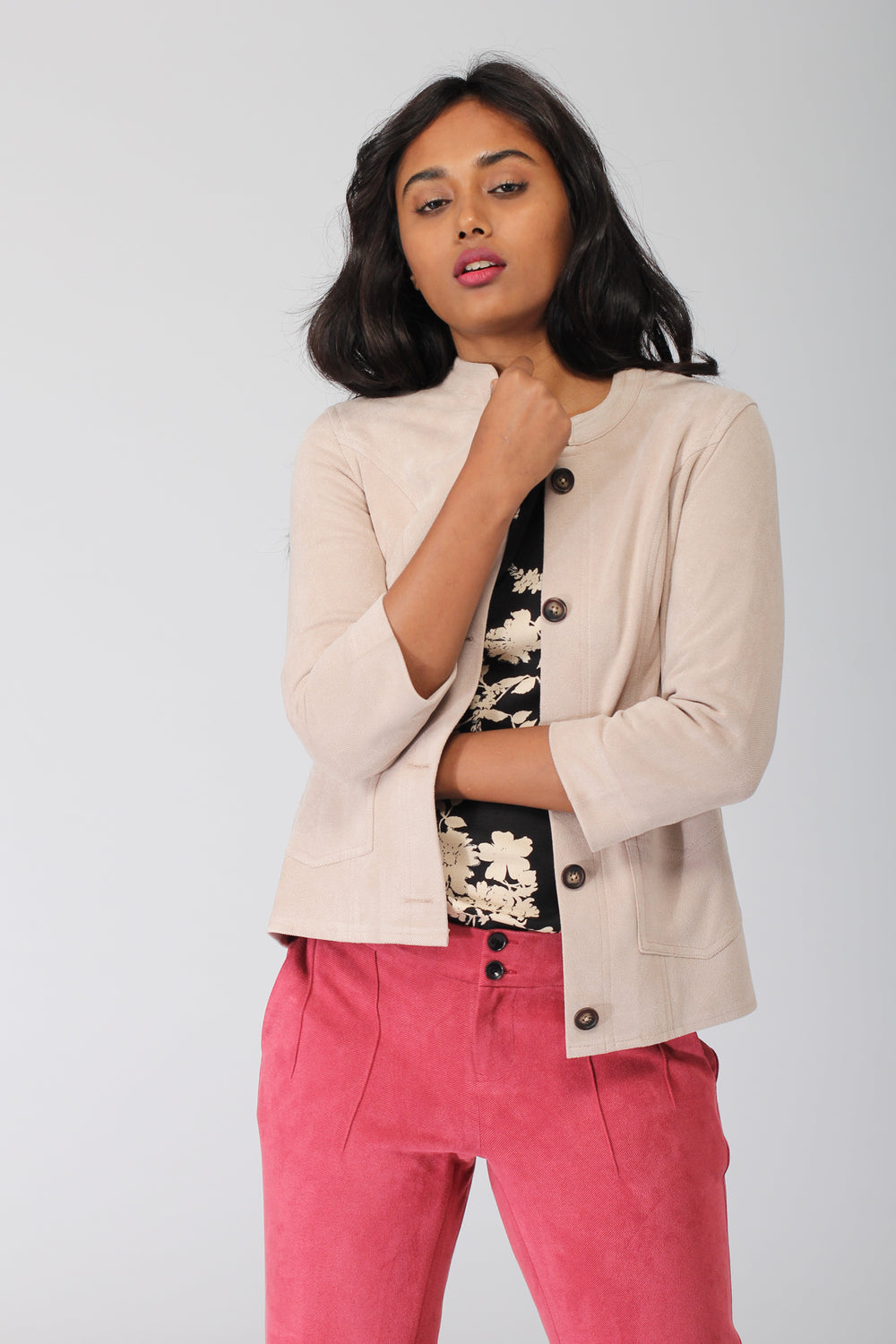Albany Beige Casual Jacket
