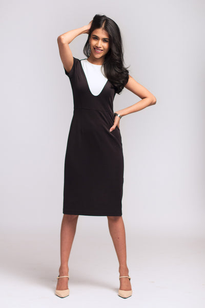 Moon Rise Structured Work Dress
