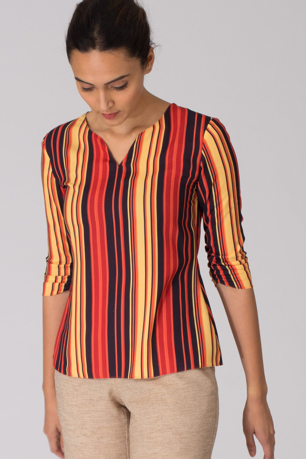 Zion Ruched Sleeve Top