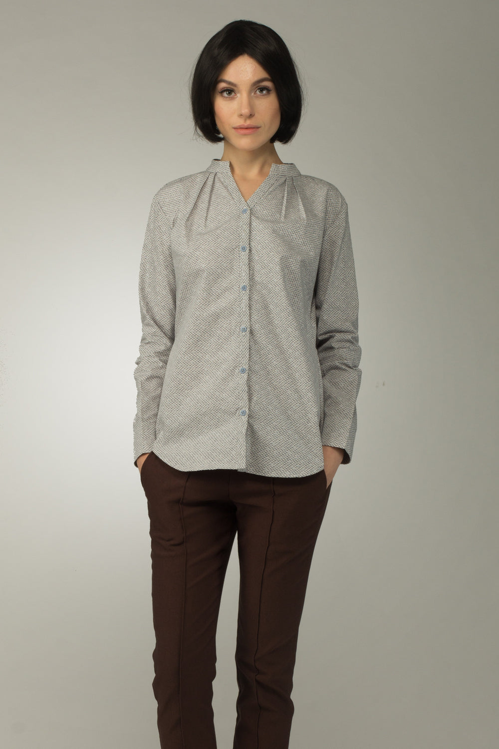 Pisces Pleated Collar Shirt