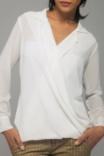 Quartz Wrap Blouse