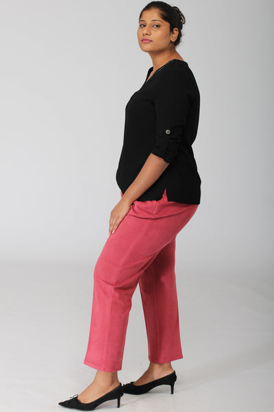 Geneva Punch Pink Stretch Pants