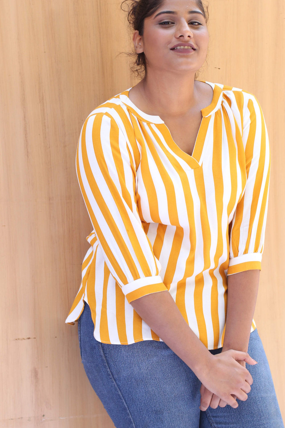 Iris Striped Cotton Flowy Top