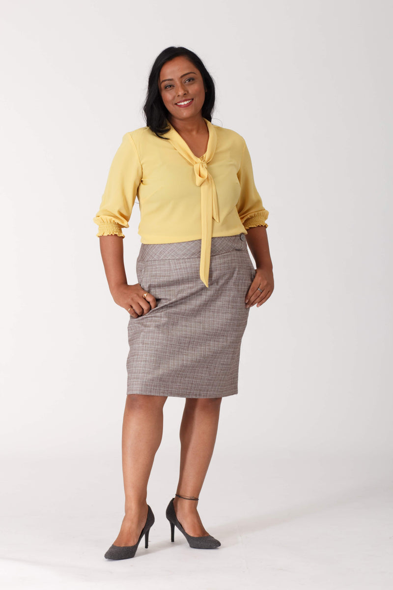 Smoky Cotton Stretch Skirt