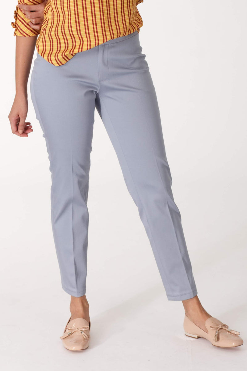Aqua Cotton Stretch Pants