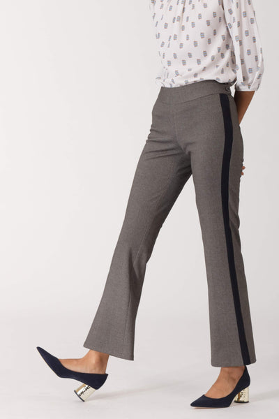 Contrast Panel Flared Pants