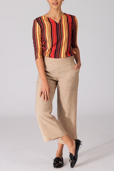 Desert Sand Lightweight Wide Leg Pants