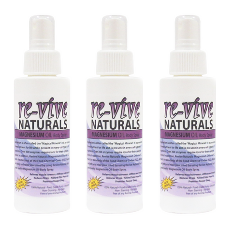 Re-vive Naturals Magnesium Oil Spray 4 Oz (3 pcs)
