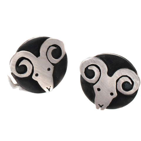 Zodiac Signs: Aries the Ram Cufflinks