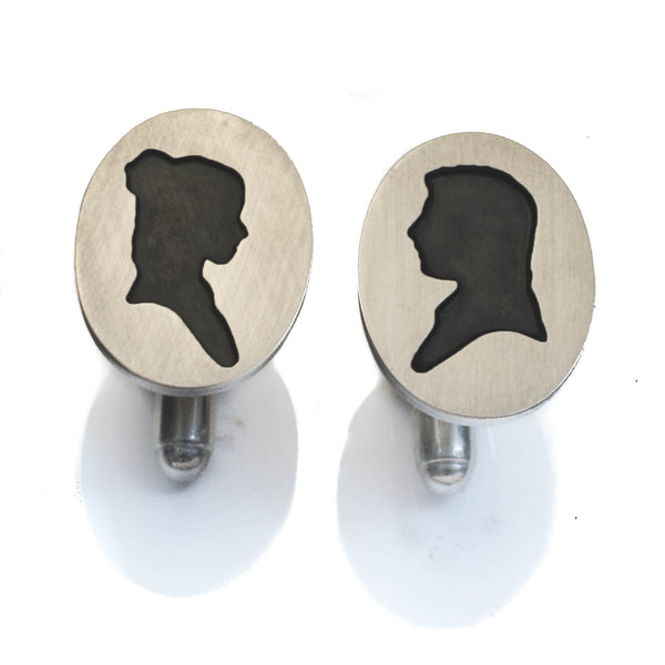 Bespoke Silhouette Portrait Cufflinks Commission