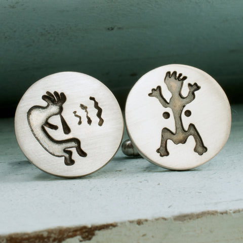 Kokopelli Fertility Cufflinks - RSJSStudios - 1