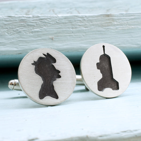 Fry and Bender Sterling Silver Cufflinks - RSJSStudios - 1