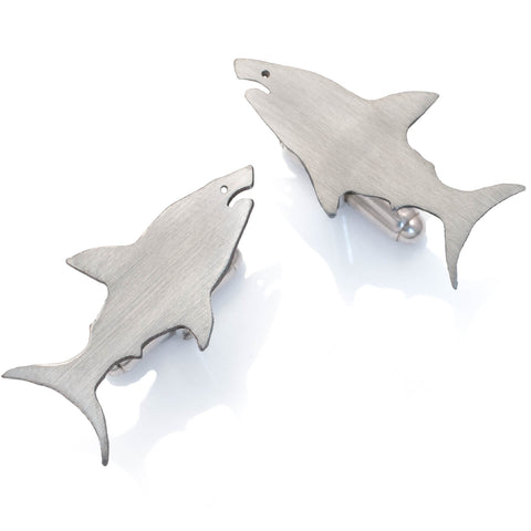Great White Shark Cufflinks in sterling silver