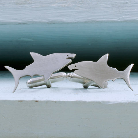 Great White Shark Cufflinks - RSJSStudios - 1