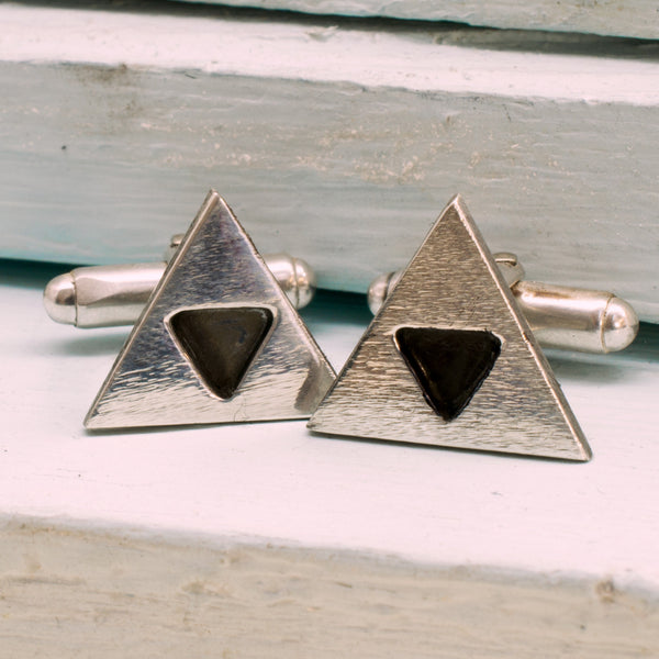 Tri Force Sign Sterling Silver Cufflinks - RSJSStudios - 1