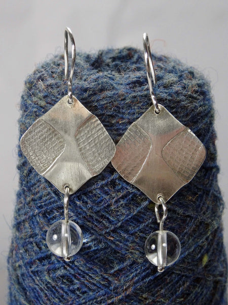 Silver and Rock Crystal Earrings
