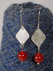 Mini Silver and Stone Earrings