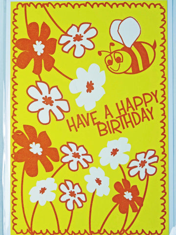 Bee Birthday Cards