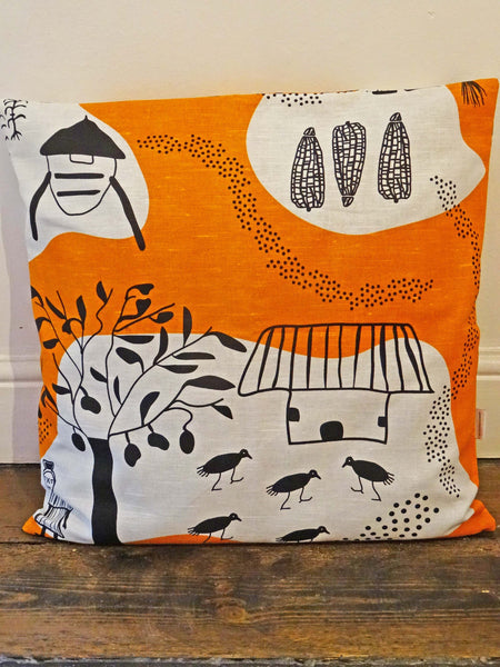 Turn Right at the Big Mango Tree Cushion Cover