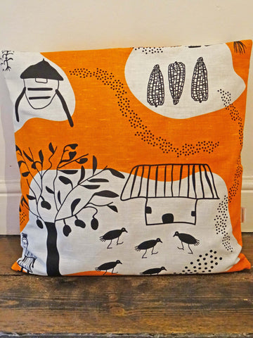'Turn Right at the Big Mango Tree' Cushion Cover