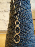 Three loop necklace