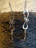 Silver 'infinity' earrings
