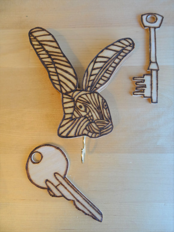 Rabbit key hook