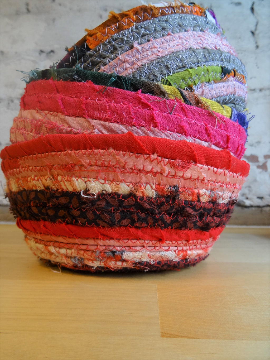 Reclaimed fabric bowls