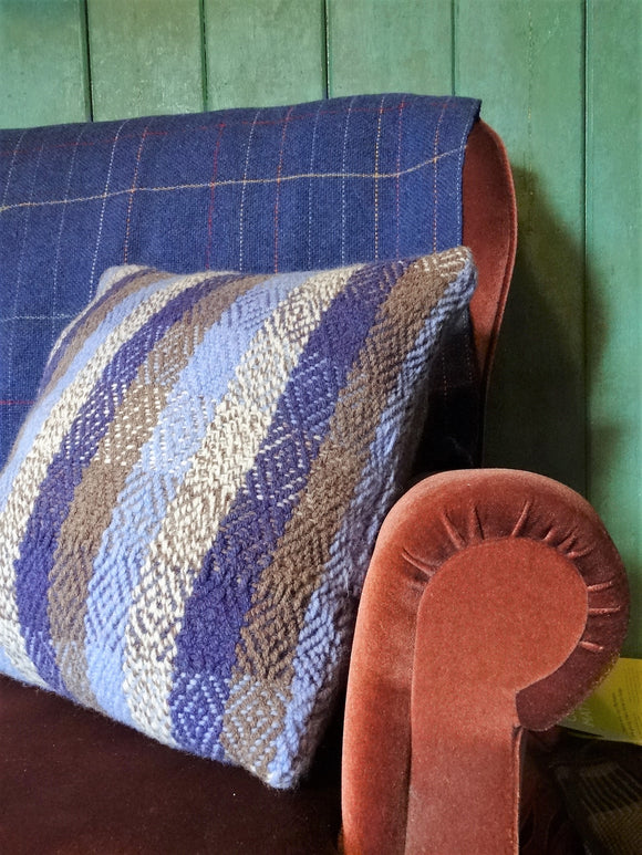 Handwoven wool cushion