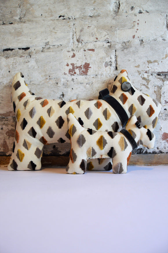 Scottie dog cushions