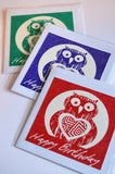 Owl greetings cards