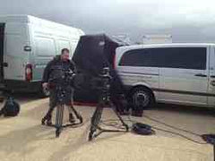 Coronation St Shack - Film Crew