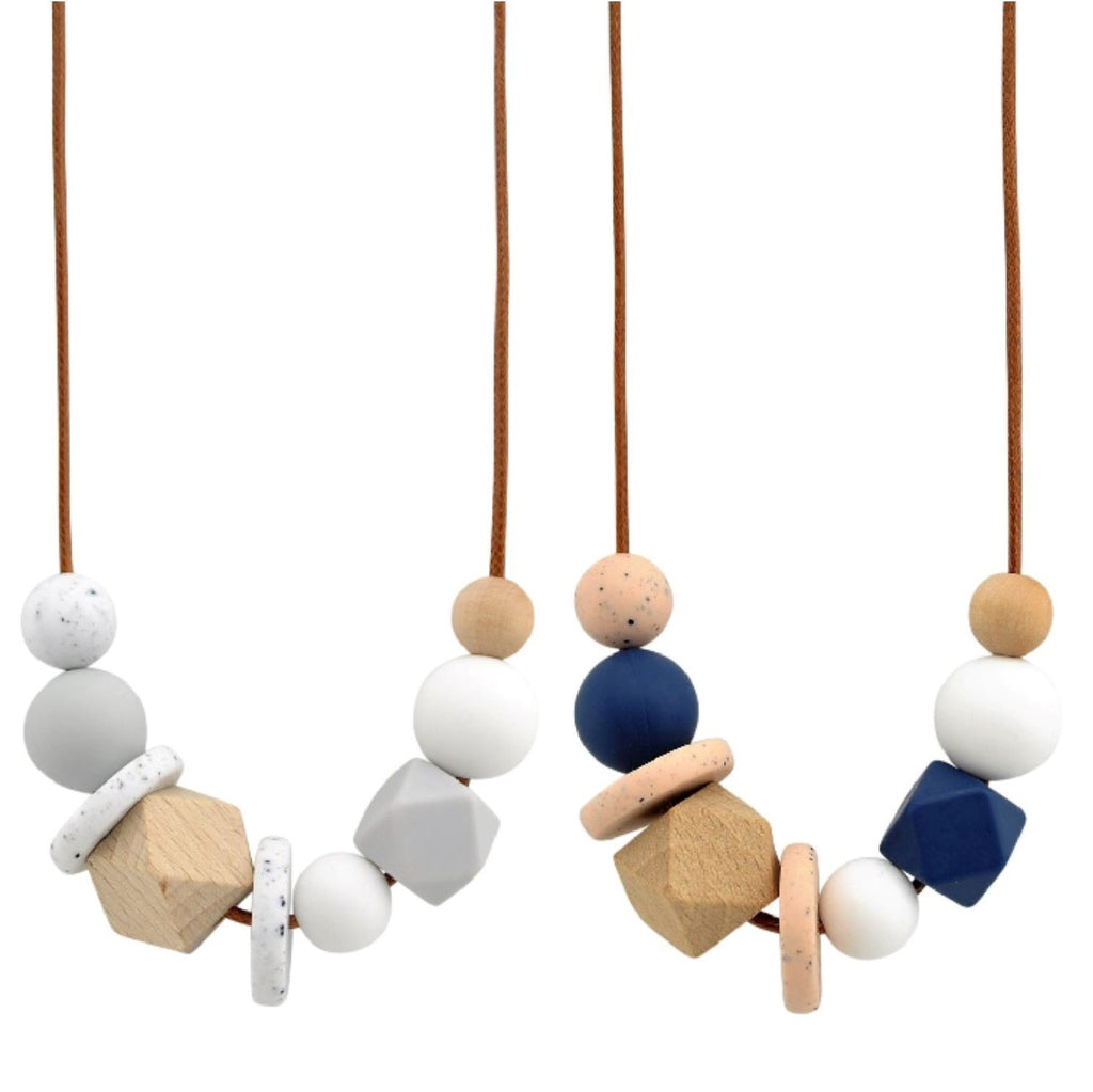 Nellie and the Cat Facet Timber and Silicone Necklace - Assorted Colours
