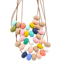 Load image into Gallery viewer, Nellie and the Cat Kaleido Timber & Silicone Necklace : Nautica