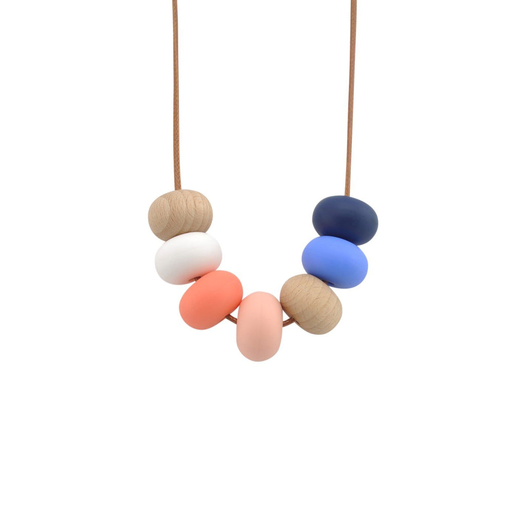 Nellie and the Cat Kaleido Timber and Silicone Necklace - Nautica