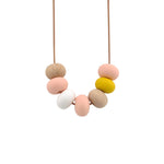 Nellie and the Cat Kaleido Timber and Silicone Necklace - Peachy Keen As