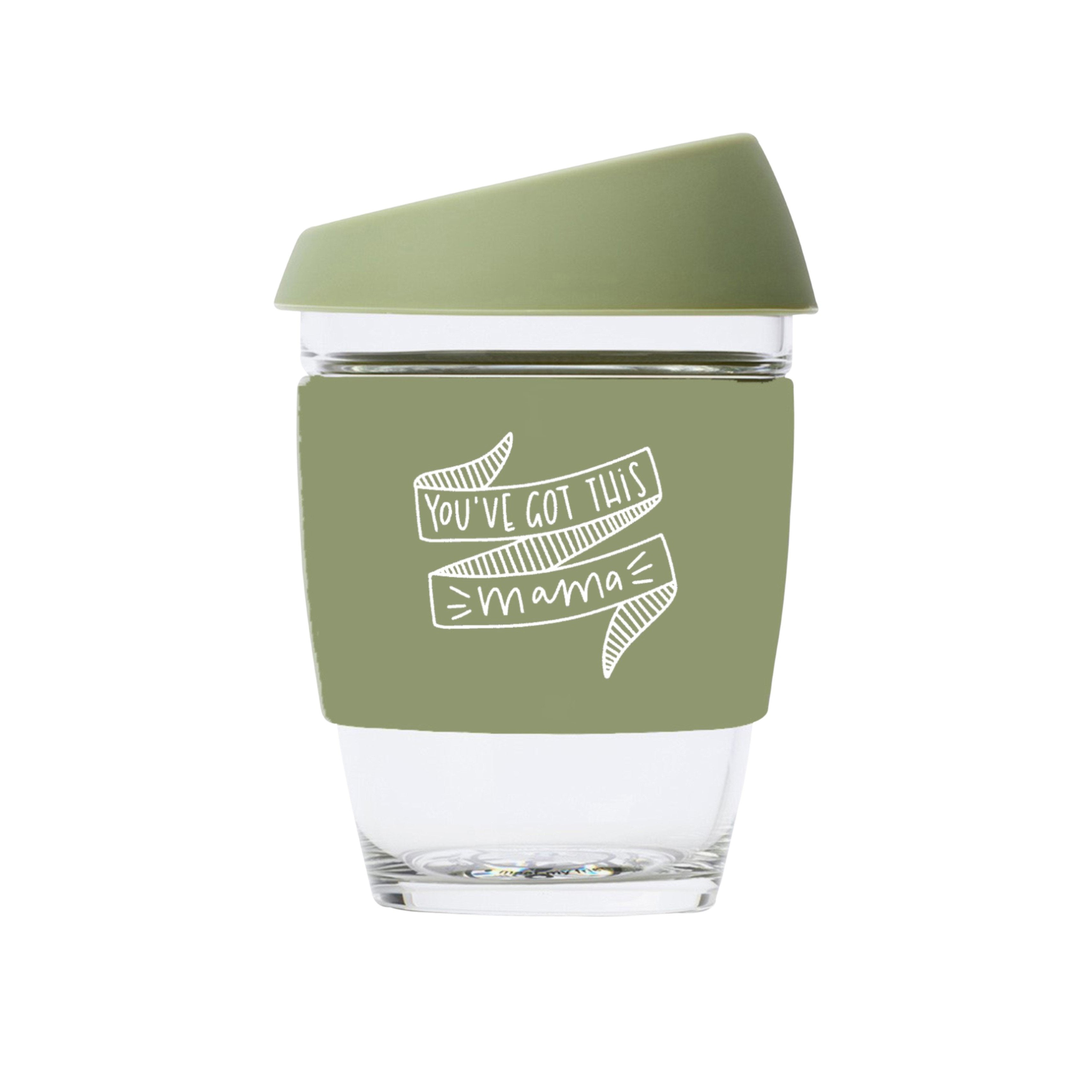 You've Got This Mama JOCO Reusable Glass Travel Cup Army