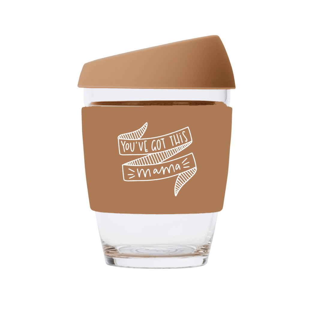 You've Got This Mama JOCO Reusable Glass Travel Cup Butterrum