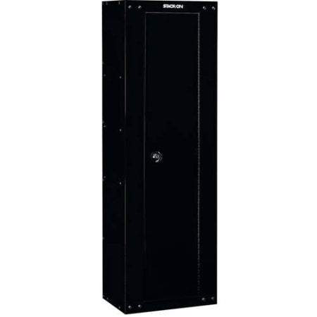 Stack On Security Plus 8 Gun Ready To Assemble Metal Storage Cabinet Locker  Black