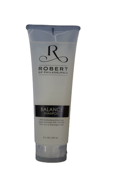 BALANCE SHAMPOO  •  super enriched with vitamins, great for fine, dry, or damaged hair.