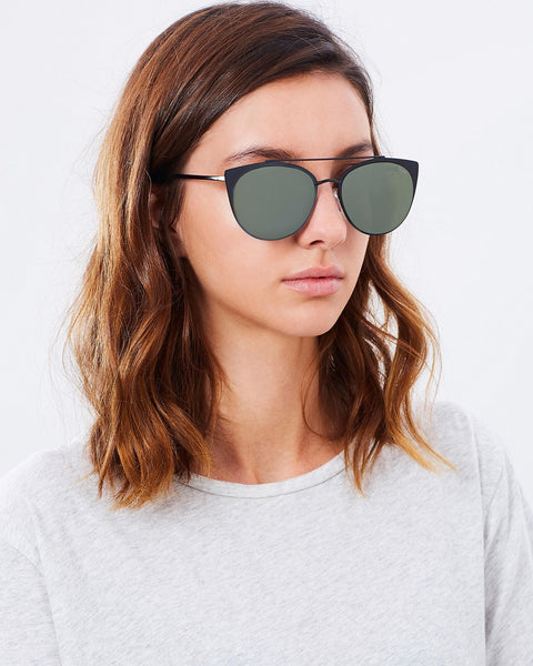 Tell Me Why Black - Quay Australia Sunglasses