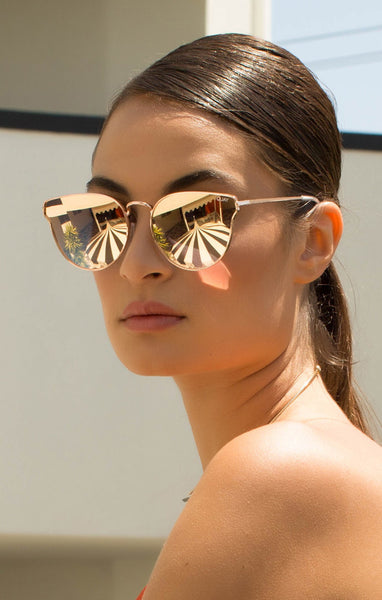 All My Love - Gold Rose - Quay Australia Sunglasses