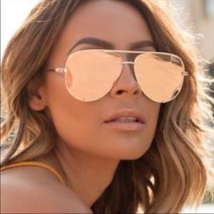 High Key X Desi Perkins Gold - Quay Australia Sunglasses