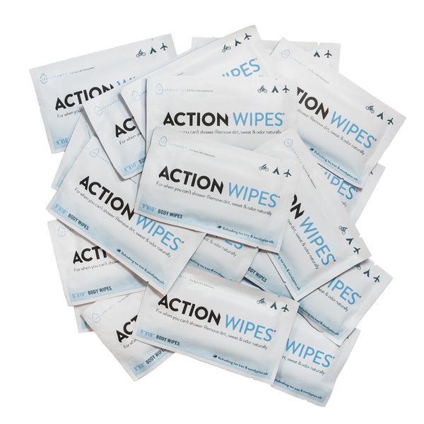 15 lingettes individuelles Action Wipes
