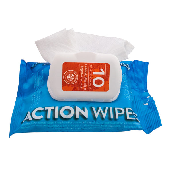 paquet 10 lingettes action wipes