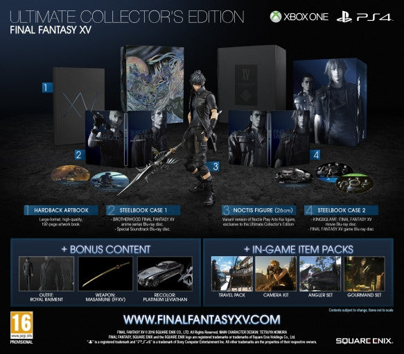 Marvelous Toys Presents: Unboxing of Final Fantasy XV Ultimate Collector's Edition