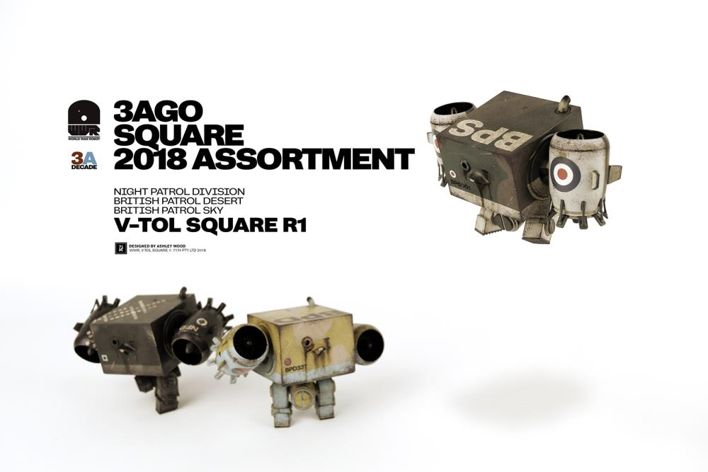 ThreeA - 3Ago - V-TOL Square 2018 R1 (Set of 3)