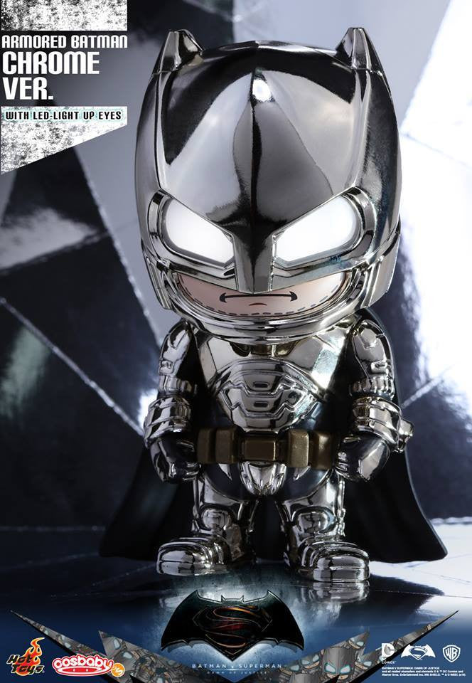 Hot Toys - COSB229-231 - Batman v Superman: Dawn of Justice - Armored Batman (Special Color Versions) Cosbaby (S) Bundle Set - Marvelous Toys - 2