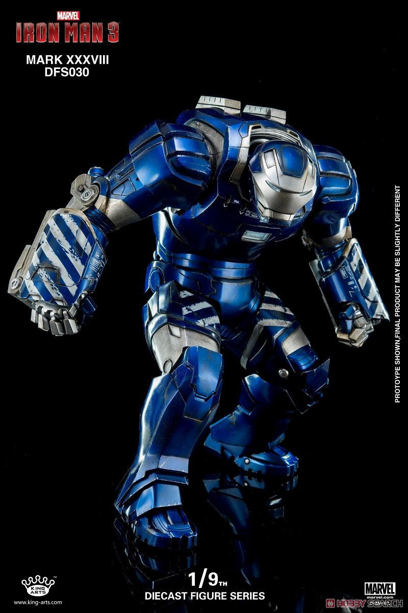 King Arts - DFS030 - Iron Man 3 - 1/9th Scale Iron Man Mark XXXVIII (38) - Marvelous Toys - 1